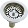 "Basket Strainer 3-1/2"" Stainless Steel With Brass Tailpiece"
